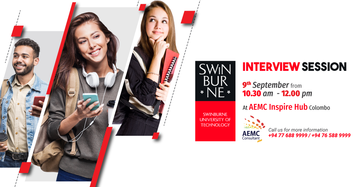 Start your studies at Swinburne!